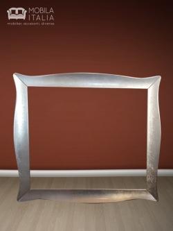 Ramă decor argintie