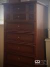 Comodă antichizată cu 7 sertare - din lemn și MDF