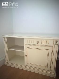 Comodă TV din lemn de nuc albă
